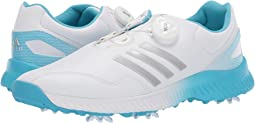 Footwear White/Silver Metallic/Bright Cyan