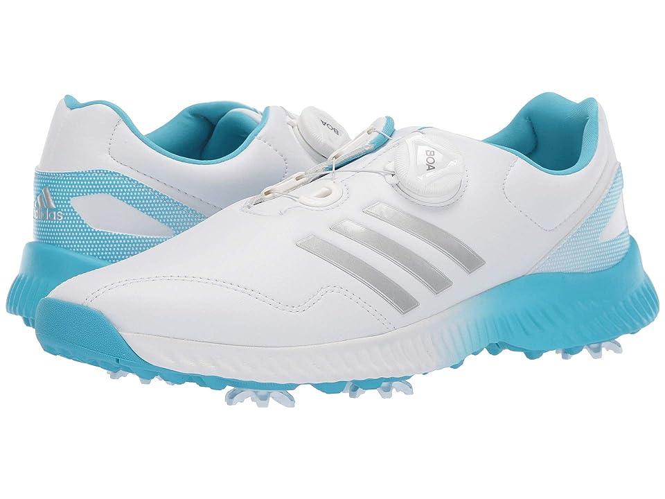 adidas Golf Response Bounce Boa (Footwear White/Silver Metallic/Bright Cyan) Women