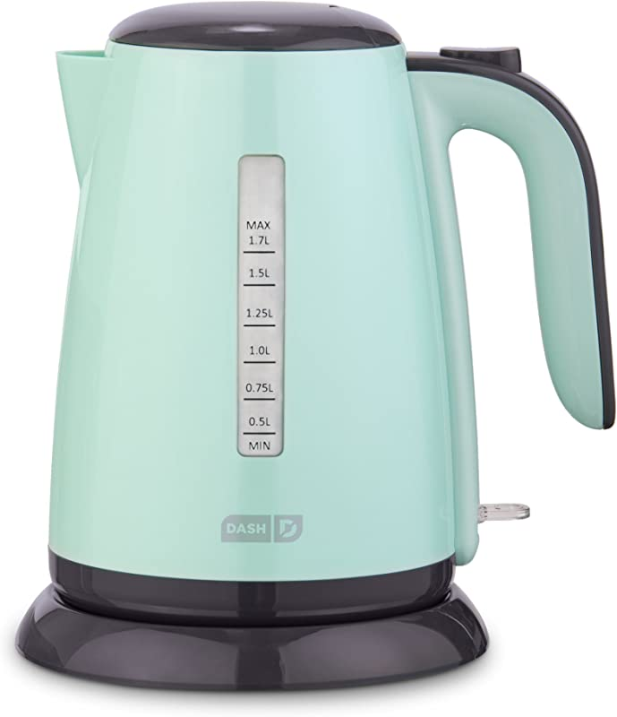 Dash DEZK003AQ Easy Electric Kettle Water Heater With With Rapid Boil Cool Touch Handle Cordless Carafe Auto Shut Off For Coffee Tea Espresso More 57 Oz 1 7L Aqua