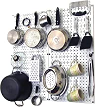 product image for Wall Control Kitchen Pegboard Organizer Pots and Pans Pegboard Pack Storage and Organization Kit with White Pegboard and White Accessories