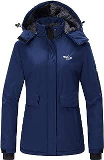Women's Mountain Ski Fleece Jacket Waterproof Parka Winter Raincoat