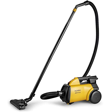 Eureka 3670M Canister Cleaner, Lightweight Powerful Vacuum for Carpets and Hard Floors, w/ 5bags,Yellow