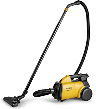 Eureka 3670M Mighty Mite Canister Cleaner, Lightweight Powerful Vacuum for Carpets and Hard Floors, w/ 5bags,Yellow
