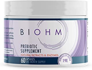 BIOHM Prebiotic Fiber Supplement for Advanced Gut Health & Immune System Booster, Non-GMO, Vegetarian Friendly, 60 Count