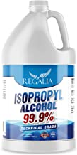 Isopropyl Alcohol (IPA) 99.9% Purity - Made in The USA - FDA Registered Facility - Concentrated Rubbing Alcohol One Gallon (128 Fluid Ounces) by Regalia