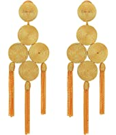 Oscar de la Renta - Embroidered Tassel C Earrings
