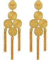Oscar de la Renta - Embroidered Tassel C Earrings