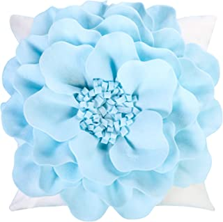 3D Decorative Throw Flower Pillow Covers Handmade 3D Flower Cushion Covers Cases Accent Pillowslips Square Gift Home Sofa ...