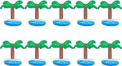 Portavasos Flotante, 10Pcs Estera de Taza Flotante de PVC con Tenedor Inflable para Bebidas para la Playa de la Fiesta en la Piscina