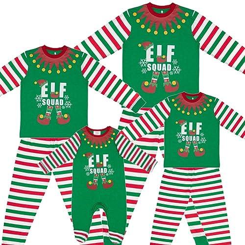 64ccf129f129 Made By Elves Elf Squad PJs Matching Family Christmas Elf Pyjamas Mens  Womens Child Newborn
