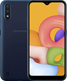 "Samsung Galaxy A01 16GB/2GB RAM (SM-A015M/DS) Dual SIM, 5.7"" Display, GSM Unlocked, International Version - Blue"