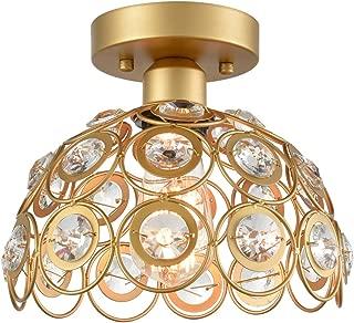 Dazhuan Golden Crystal Modern Ceiling Lights Flush Mount Lamp