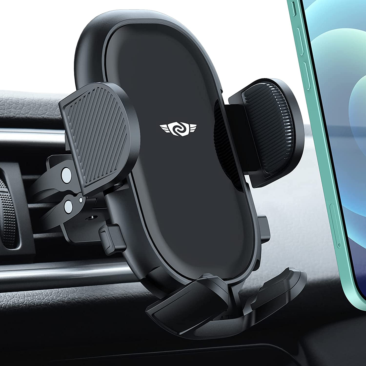 Car Phone Holder Mount, Air Vent Car Phone Mount with Stable Clip, Adjustable Support Feet Cell Phone Holder Compatible with iPhone 13 12 SE 11 Pro Max XS XR, Galaxy Note 20 S20 S10 and More