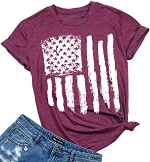 American Flag Shirt Patriotic Stars Stripes T Shirt Top...