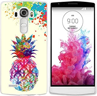G4 Case for Lg Pineapple Design/IWONE Case Skin Cover Protective Compatible for Lg G4 + Colorful Creative Painting Cute Pineapple Fruit Color Art Design