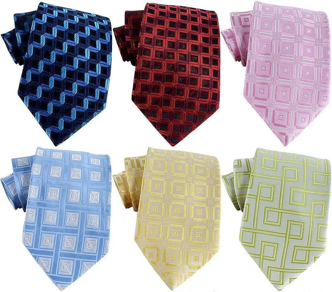 History of 1920s Men's Ties, Neckties, Bowties WeiShang Lot 6 PCS Classic Mens Silk Tie Necktie Woven JACQUARD Neck Ties  AT vintagedancer.com