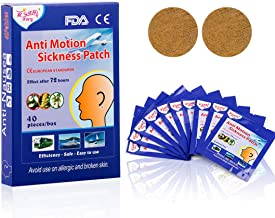 ifory 40 Count Anti Nausea Patches Motion Sickness Patches for Cruise, Plane, Train, Bus, Sea Scikness Patches with Waterproof and Non Drowsy