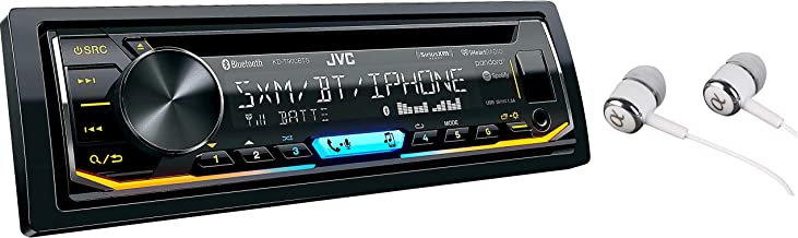 JVC KD-T900BTS SiriusXM Ready Built-in Bluetooth iPod/iPhone/Android CD MP3 AM/FM USB AUX Car Stereo Player Pandora Control iHeart Radio Receiver Variable Color Illumination/Free ALPHASONIK Earbuds