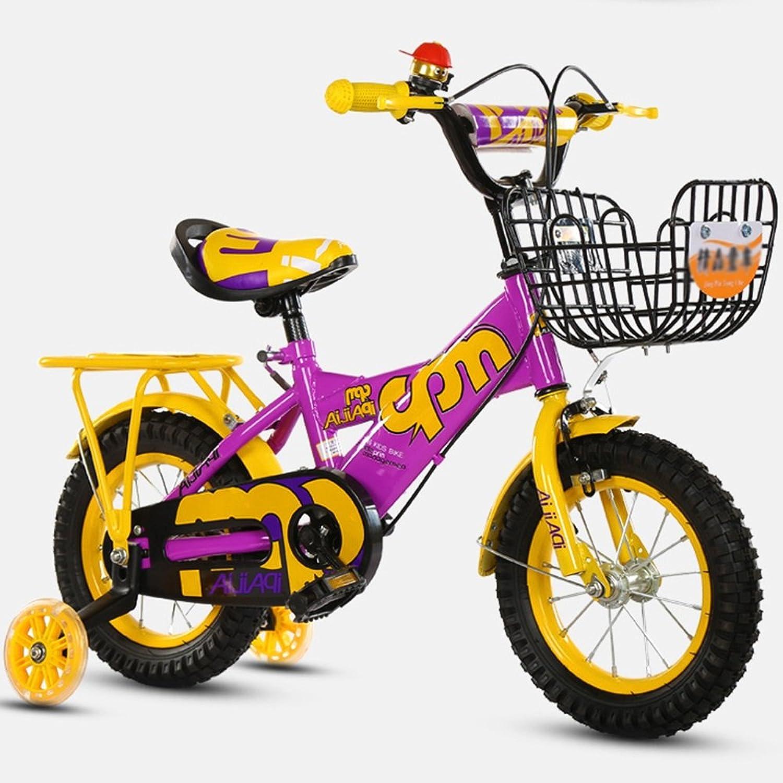 Sheng Junge Kind Fahrrad gelb + blau, 12  Zoll dicken Stahlrahmen Fahrrad