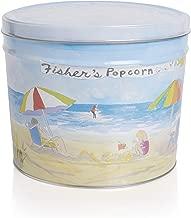 Fisher's Popcorn Caramel Popcorn in Decorative Metal Tin, Gluten Free, 5 Simple Ingredients, Handmade, No Preservatives, No High Fructose Corn Syrup, Zero Trans Fat, 2 Gallon Tub