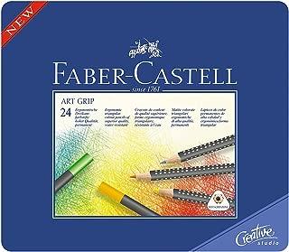 ファーバーカステル アートグリップ油性色鉛筆 24色セット 缶入 114324 [日本正規品]