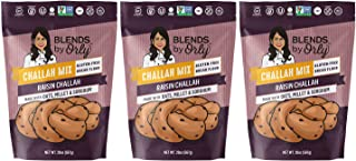 "Blends by Orly ""Gluten Free"" Challah Artisanal Bread Mix 20.5oz - 25 Oz (Raisin Challah, 3)"
