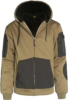 Men's Heavyweight Sherpa Lined Hoodie Zip Up Hooded Sweatshirt Winter Fleece Jacket