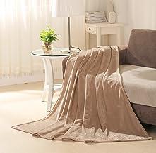 Soft Flannel Fleece Blanket, Beige, Single Size, 200 * 160 cm