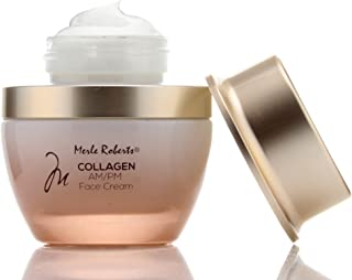 Merle Roberts Day and Night Face Cream with Collagen. Anti-Aging face cream for Wrinkles, Fine Lines, Uneven Skin Tone, and Dry Skin. 1 fl oz (30ml) jar. (1oz)