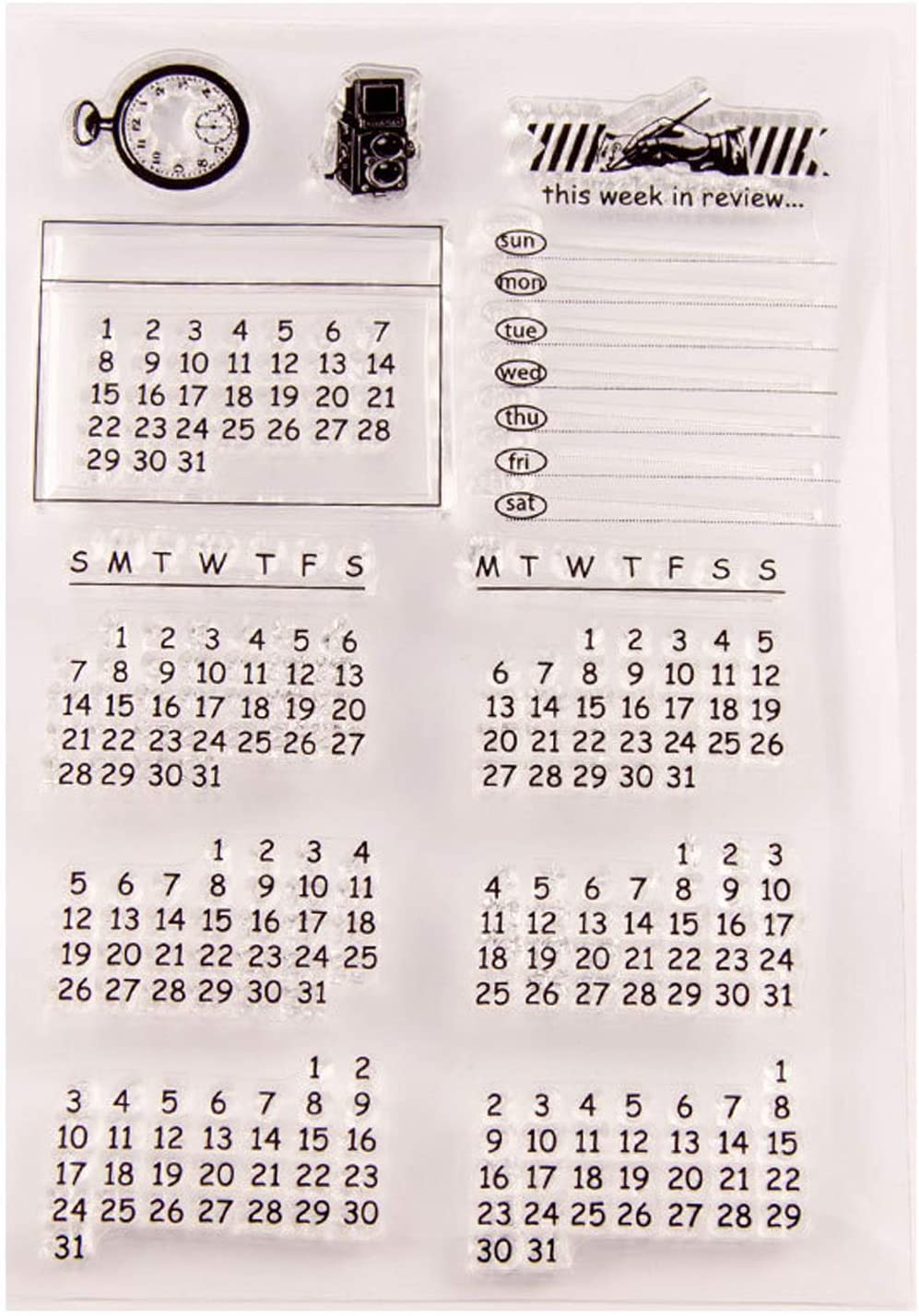 Clear Stamp Scrapbooking Embossing Transparent Stamp Seal DIY Hand Account for Scrapbook Postcards Photo Craft Card Making Decorative(Earth Map)