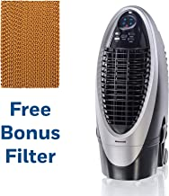 Honeywell 300 CFM Silver/Gray with Remote Control and an Extra Honeycomb Filter Indoor Evaporative Air Cooler