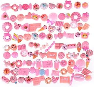 Figurines & Miniatures - 2019 10pcs Lot Kawaii Artificial Resin Candy Sweet Food Toys Dollhouse Miniatures Mobile Phone Diy - Silver Miniatures Metal Figurines