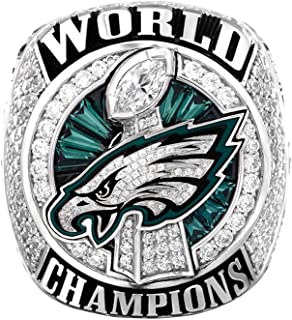 Zoga New Philadelphia Eagles Ring, Super Bowl LII World Foles and Wentz Championship Replica Ring