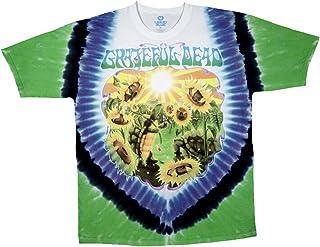 Liquid Blue Mens Grateful Dead Sunflower Terrapin Tie Dye Short Sleeve T-Shirt T-Shirt Small