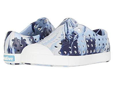 Native Kids Shoes Jefferson Marbled (Toddler/Little Kid) (Washed Blue/Shell White/Marbled) Kids Shoes