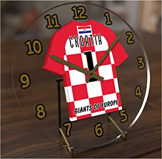 FanPlastic FIFA World Cup Soccer Desktop Clocks - Any Team Colours Available - Support Your Team !!!