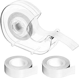 3 rollos de cinta de doble cara para prendas de vestir, cinta de cuerpo transparente