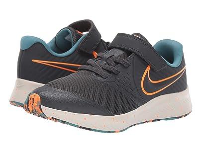 Nike Kids Star Runner 2 (Little Kid) (Anthracite/Total Orange/Light Bone) Kids Shoes