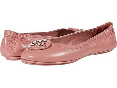 Tory Burch Minnie Travel Ballet w/ Leather Logo (Rosa/Rosa) Women