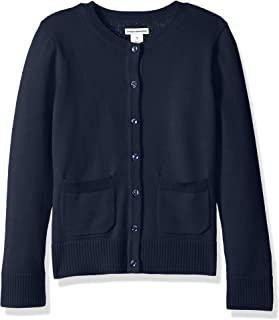 Girls' Uniform Cardigan Sweater