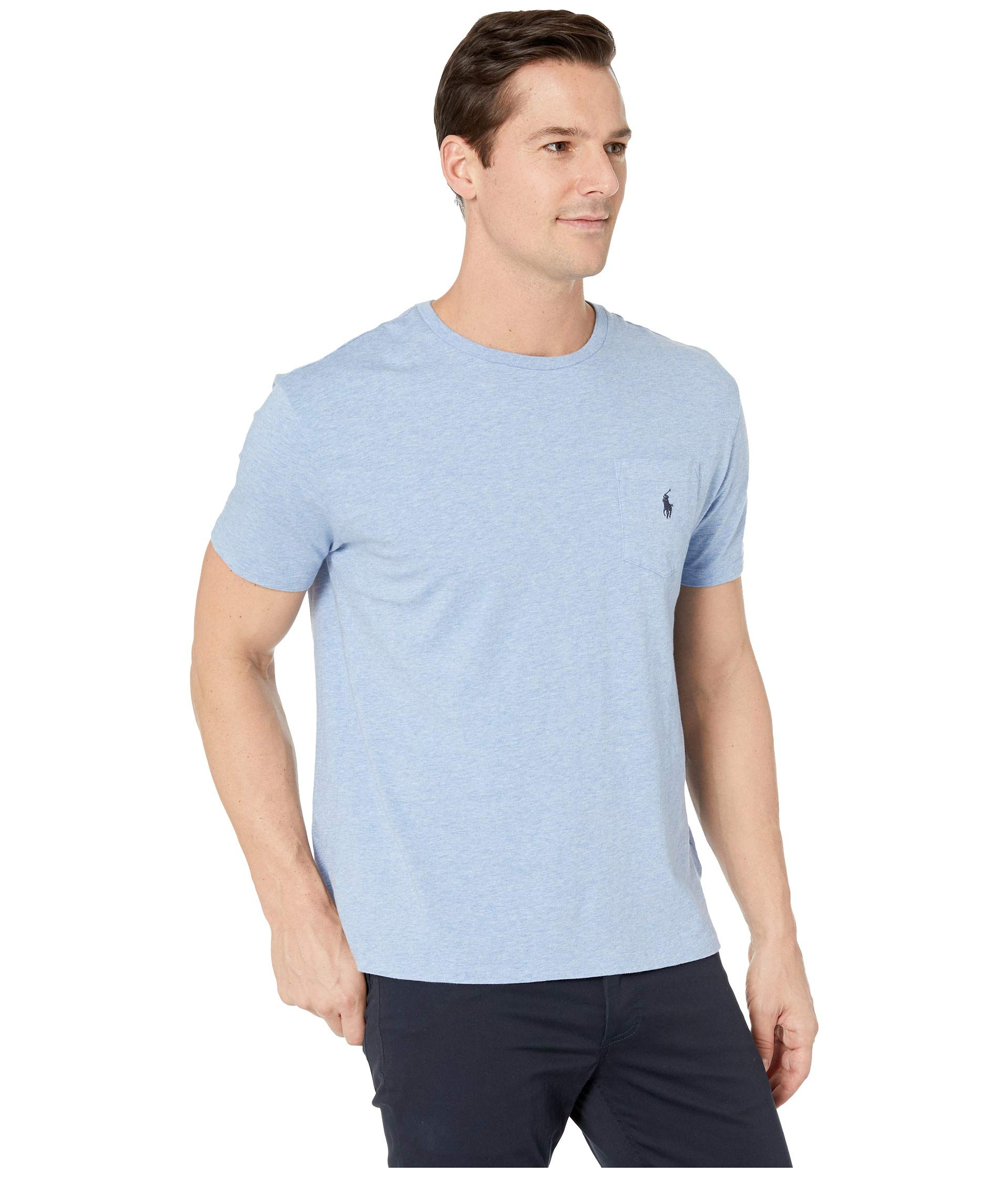 1 Short Heather Pocket Fit Jersey Sleeve Ralph shirt T Lauren Polo Jamaica Classic 26 wqXSxUgntO