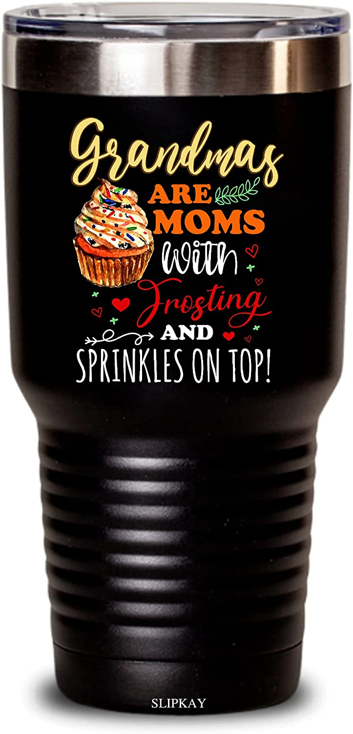 Grandmas Are Moms With 2021 new Frosting And Import Top Tumbler On Sprinkles 30o