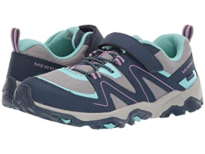 Merrell Kids Trail Quest (Little Kid/Big Kid) (Navy/Grey/Turquoise) Girl