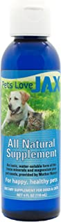 JAX for Pets All Natural Supplement - 4 oz - Complete Range of Naturally Occurring Ionic Trace Minerals for Pets with Magnesium - Naturally Calms Dogs & Cats - Supports Bone & Joint Health
