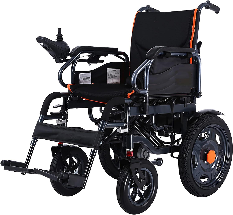 Silla de ruedas eléctrica portátil plegable, para ancianos y discapacitados, batería de iones de litio de 20 A, con cinturón de seguridad, eléctrico/manual/Negro / 115x94x63cm
