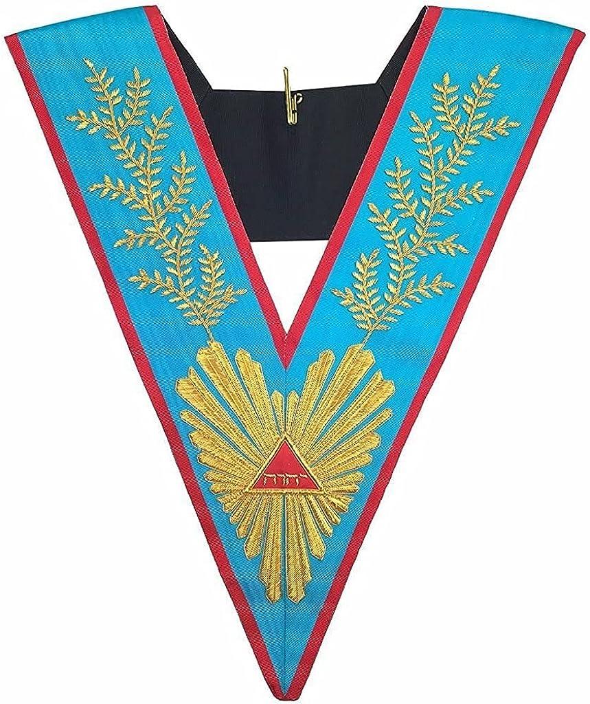 Masonic Officer's collar Memphis Misraim Worshipful Master Hand Embroidered