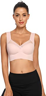 Woweny Women's Lace Tube Bra Top Strapless Stretchy Crop Bandeau with Build in Bra