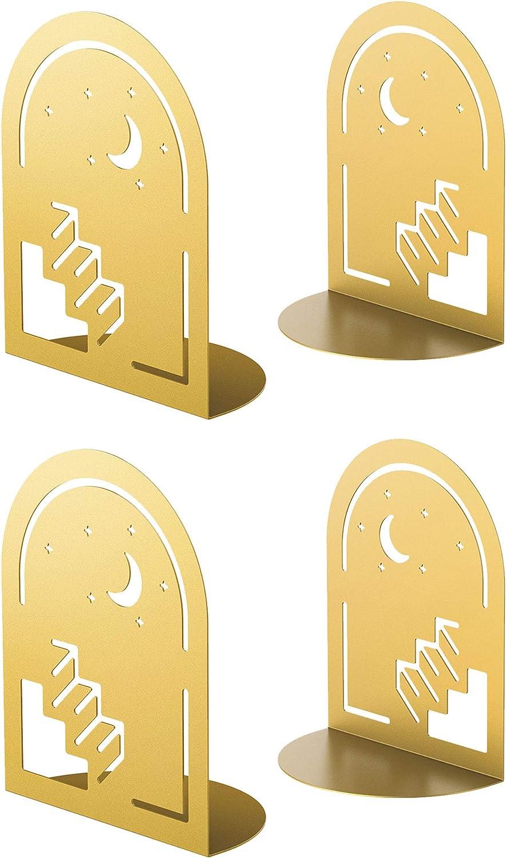 Ranking TOP15 QiMing Stars Moon Popular standard Ladder Bookends for Dream Pair B Books Metal 2