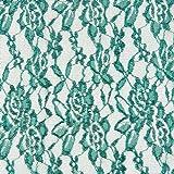 Fabulous Fabrics Spitze grasgrün, Blume, 150cm breit –