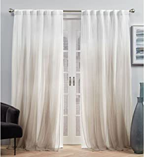 Exclusive Home Curtains Crescendo Lined Blackout Hidden Tab Top Curtain Panel Pair, 54x96, Champagne